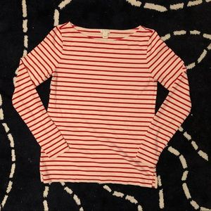 J Crew Boat Neck Nautical 3/4 Sleeve Size XXS